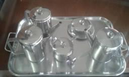 Conjunto de chá e café em Inox