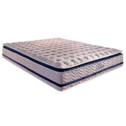 Base Box Bipartida com Colchão Paropas de Molas Pocket Blue com Pillow Top Queen 158×198