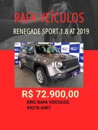 Renegade Sport 1.8 automático 2019 - Rafa Veiculos - Eric amgh