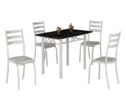 PreçoPromocional Conjunto de mesa 4 cadeiras Retangular(Entrego e Monto