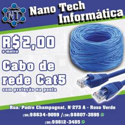 Cabo De Rede - Cat5 - com crimpagem inclusa