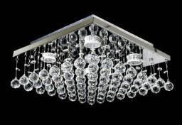 Lustre Ns 09 30×30 cm em cristal acrílico