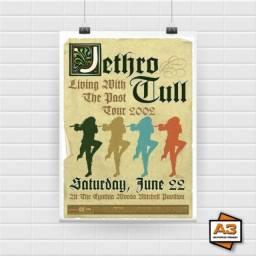 Kit 3 Posters Jethro Tull Tamanho A4 (21cm x 30cm)