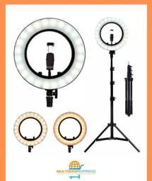 Iluminador Ring Light 26cm com Tripé de 2mt
