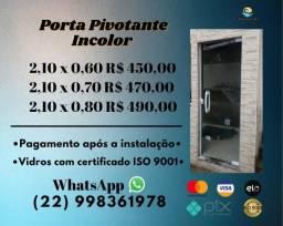 Porta Pivotante Blindex