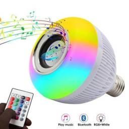Lampada Bluetooth De Led Caixa De Som Com Controle 12w Rgb