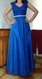 (imperdível!!!) Vendo lindo vestido azul royal