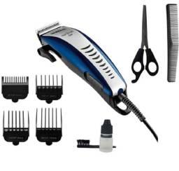 Máquina de barbear e corta cabelo profissional com kit aceitamos cartões e fazemos entrega