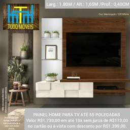 """Título do anúncio: PAINEL HOME PARA TV 55"""" 100% MDF (MONTAGEM GRÁTIS)"""