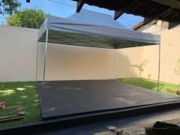 Tenda Sanfonada 4,5x3m - laser, garagem, pescarias etc