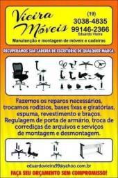 Título do anúncio: Concerto cadeiras e poltronas de escritório ( serviço destinado a empresas )
