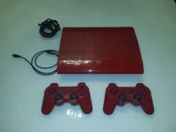 Título do anúncio: Video Game Playstation 3  Slim Vermelho 500GB Com 26 Jogos