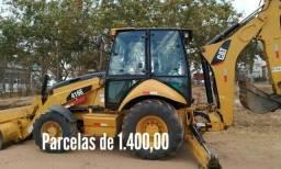 Retroescavadeira Caterpillar 416E 4x4 2017 com 1800 horas, com Serviço
