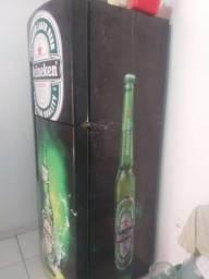 Vendo geladeira frosfree brastemp inox toda envelopada da Heineken