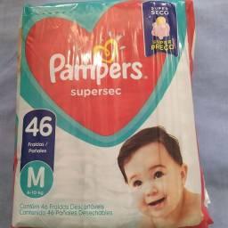 Fralda Pampers M 46 / Fralda Pampers G 40