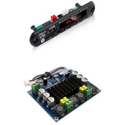 Kit placa Decodificador Bluetooth Mp3 + Amplificado Tpa3116 modulo 2x 120w