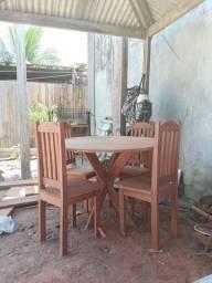 Mesas 4 cadeiras