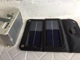 Carregador Solar para Celular com Bateria