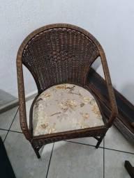 Jogo de cadeiras de jardim em madeira