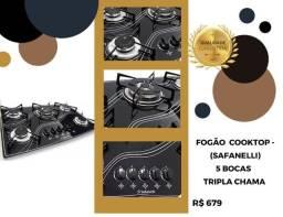 Fogão cooktop moderno tom ouro 436
