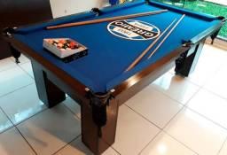 Mesa de Bilhar 4 Pés Grêmio Tecido Azul