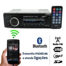 Som Automotivo Rádio FM MP3 Bluetooth, USB, SD, Auxiliar P2, 4 Saídas RCA - Tiger Auto