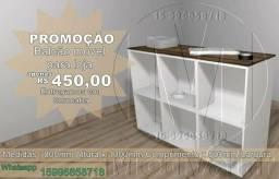 PROMOÇÃO Balcão para loja com rodinhas de 1metro x 50cm x 800cm