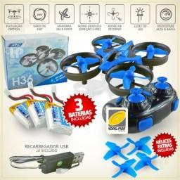 Mini Drone Quadricoptero Controle Remoto H36 / F36 - 3 Batrias!