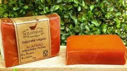 Sabonete Vegetal em Barra - Açafrão (Antimicrobiano, Psoríase) Possui ação antisséptica
