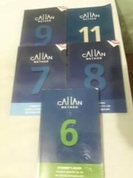 Livros método Callan (curso de Inglês) - níveis 6, 7, 8, 9 e 11