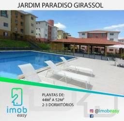 Jardim Paradiso Girassol, 2 e 3 dormitórios, área de lazer completa