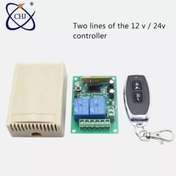 Módulo relé dois canais com controle remoto