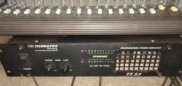 Amplificador potência mais mesa 16 canais
