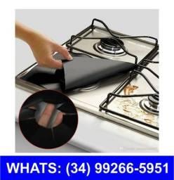 Entrega Grátis * Folhas Vitro Cerâmica para Fogão * kit c/ 4 * Lavável * Chame no Whats