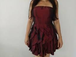 Vestido de Festa Cor Vinho - Tamanho M