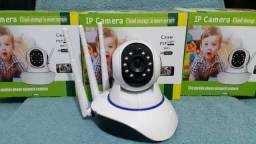 Câmera Ip Três Antenas Visão Noturna Wifi