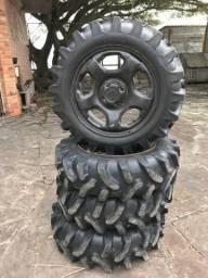 Jogo pneus e rodas fourtrax 420