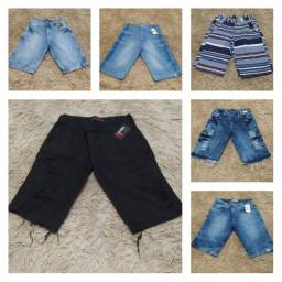 Bermudas e calça jeans
