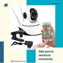 Câmera interna IP robô visão noturna HD Wi-Fi