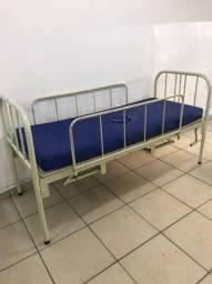 Venda Cama Hospitalar Manual com colchão hospitalar