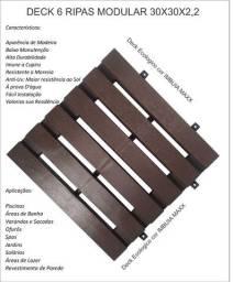 Título do anúncio: Deck piso modular 6 ripas cor imbuia