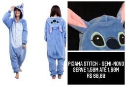 Título do anúncio: Pijama Stitch - serve 1,50 - até 1,60