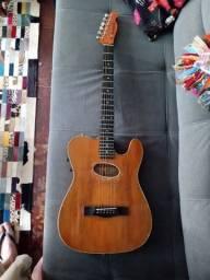 Violão/ guitarra telecaster giannini acoustik