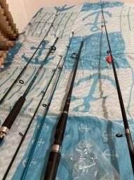 Varas de pesca