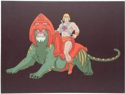 Quadro Decorativos He-Man com Gato Guerreiro em Lola Novo Lacrado!