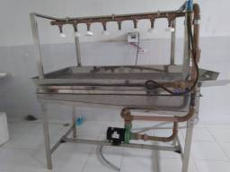 Mesa de Lavagem 100% Inox - Higienização Por Aspersão - Inox Aisi 304 - Iso 9002