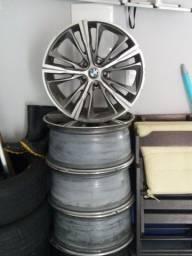 VENDO JOGO RODAS BMW ARO 19 + 2 PNEU RUNFLAT