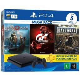 Título do anúncio: !!Liquidação - Playstation 4 com 3 Jogos novo com 1 Ano de Garantia + Brindes!!