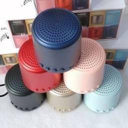 Mini caixa de som com bluetooth Fm completa