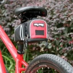Bolsa de Selim para bicicleta com engate rápido.